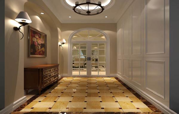 门厅整体以简约风格为主,通体以白色为主,简洁大方、温馨又富有现代感。