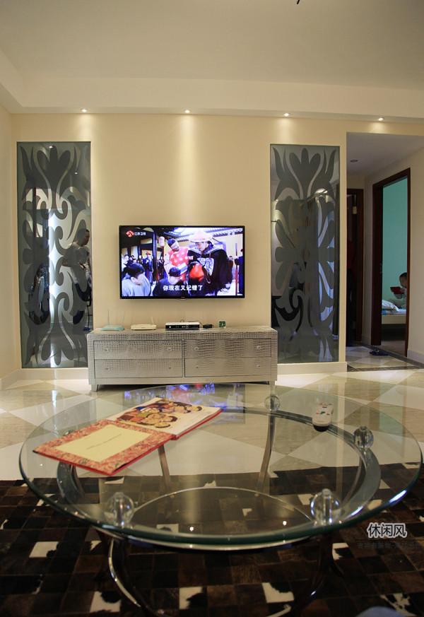 90平旧房为您打造新风格——探索《现代.休闲风》——辛诚花园——客厅电视墙