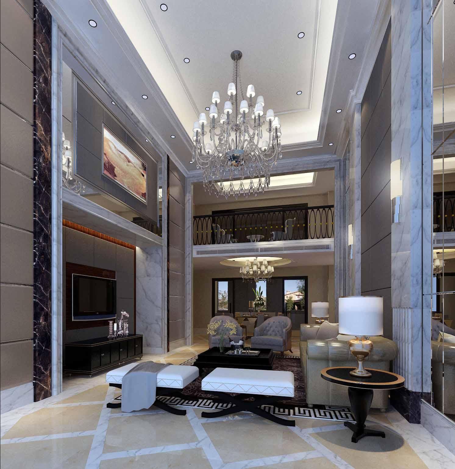 欧式 别墅 客厅图片来自新浪工长俱乐部赵宋芬在美墅的分享