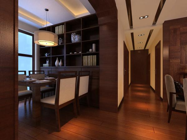 餐厅:利用厨房前面做嵌入处理打造酒柜的空间,格格造型,错落有致的装饰成为餐厅一大亮点 !