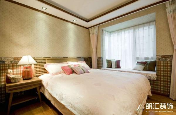 【西安朗汇装饰】东南亚风情四居室卧室赏析