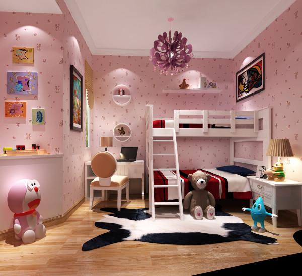 红山世家130㎡简欧风格儿童房效果图。