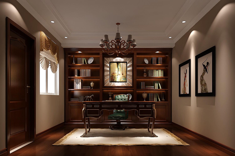 欧式 别墅 书房图片来自专业别墅设计工作室在永定河孔雀城简欧风格别墅案例的分享