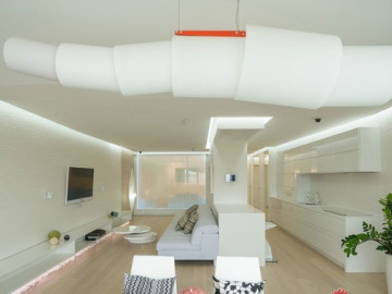 98平全开放式纯白两居室