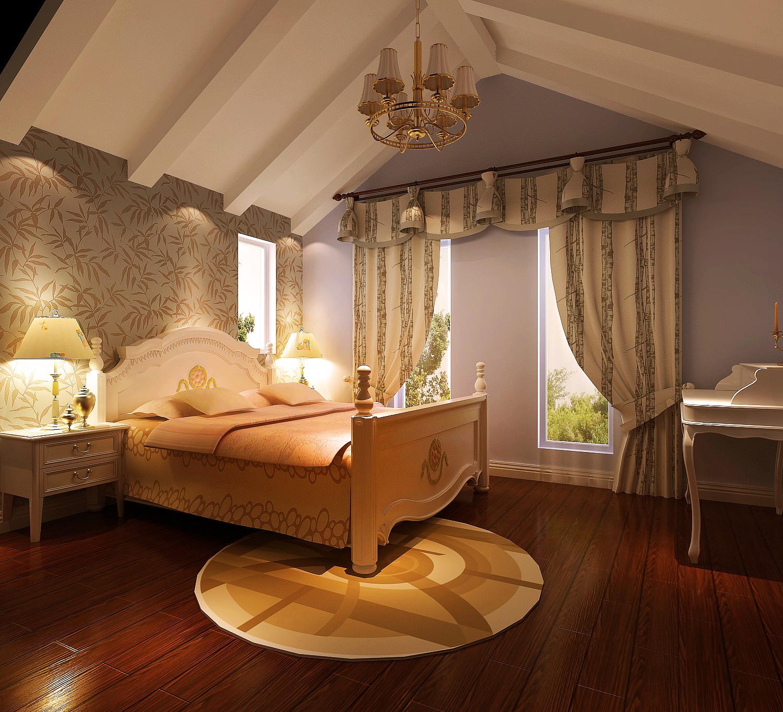 新新家园 托斯卡纳 高度国际 欧式 白领 别墅 80后 小资 简约 卧室图片来自北京高度国际装饰设计在天竺新新家园400平双拼别墅的分享