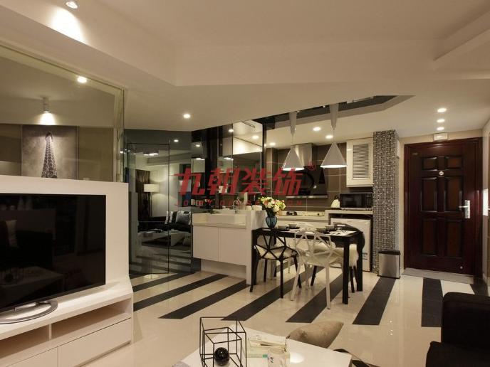 简约 四居室 超大空间 九朝装饰 西安装修 餐厅图片来自陕西九朝装饰公司在九朝装饰:170平米超大空间的分享