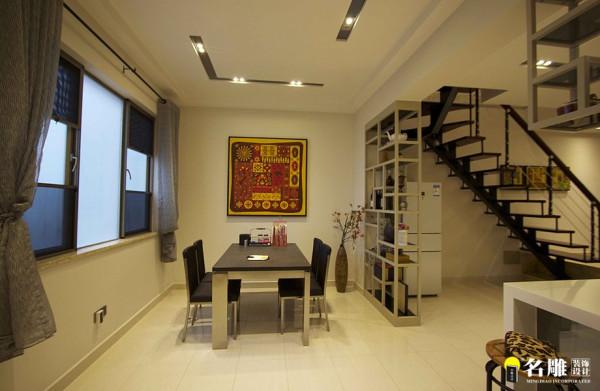 名雕装饰设计-桑泰丹华三期四居室-餐厅