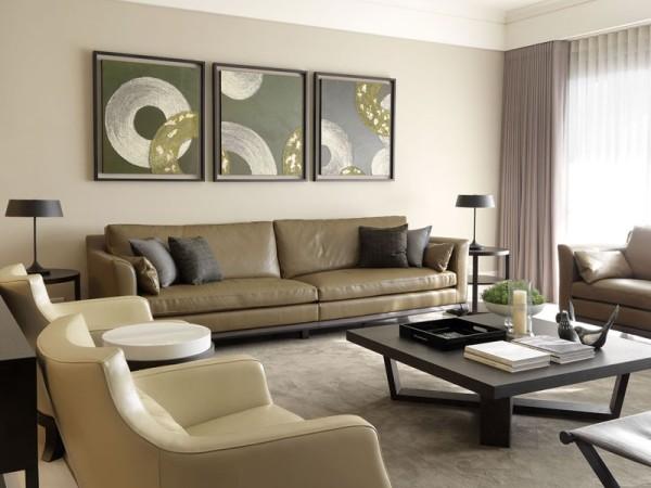 客厅造型简洁明亮。