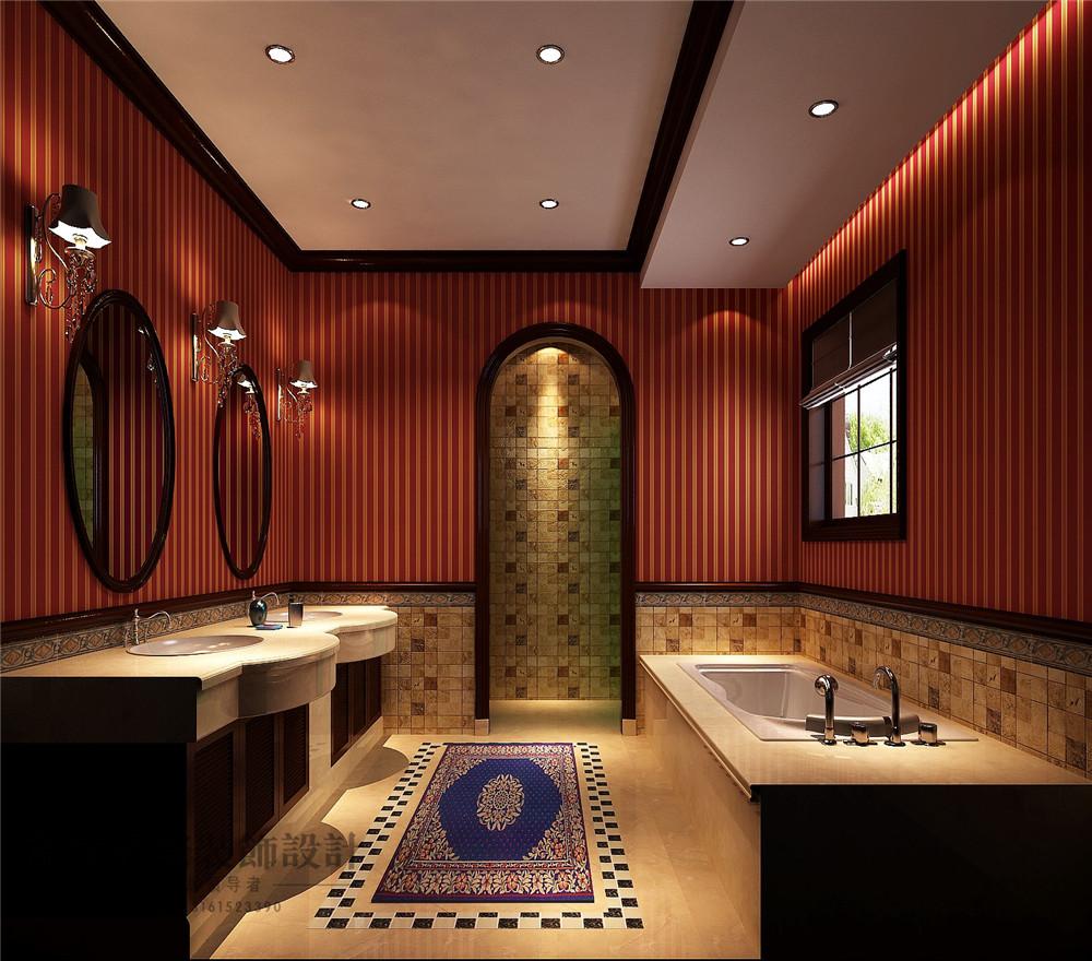 美式 新古典 别墅装修 新新家园 380平米 设计风格 装修样板间 卫生间图片来自天天快乐的石头在新新家园美式新古典风格装修案例的分享
