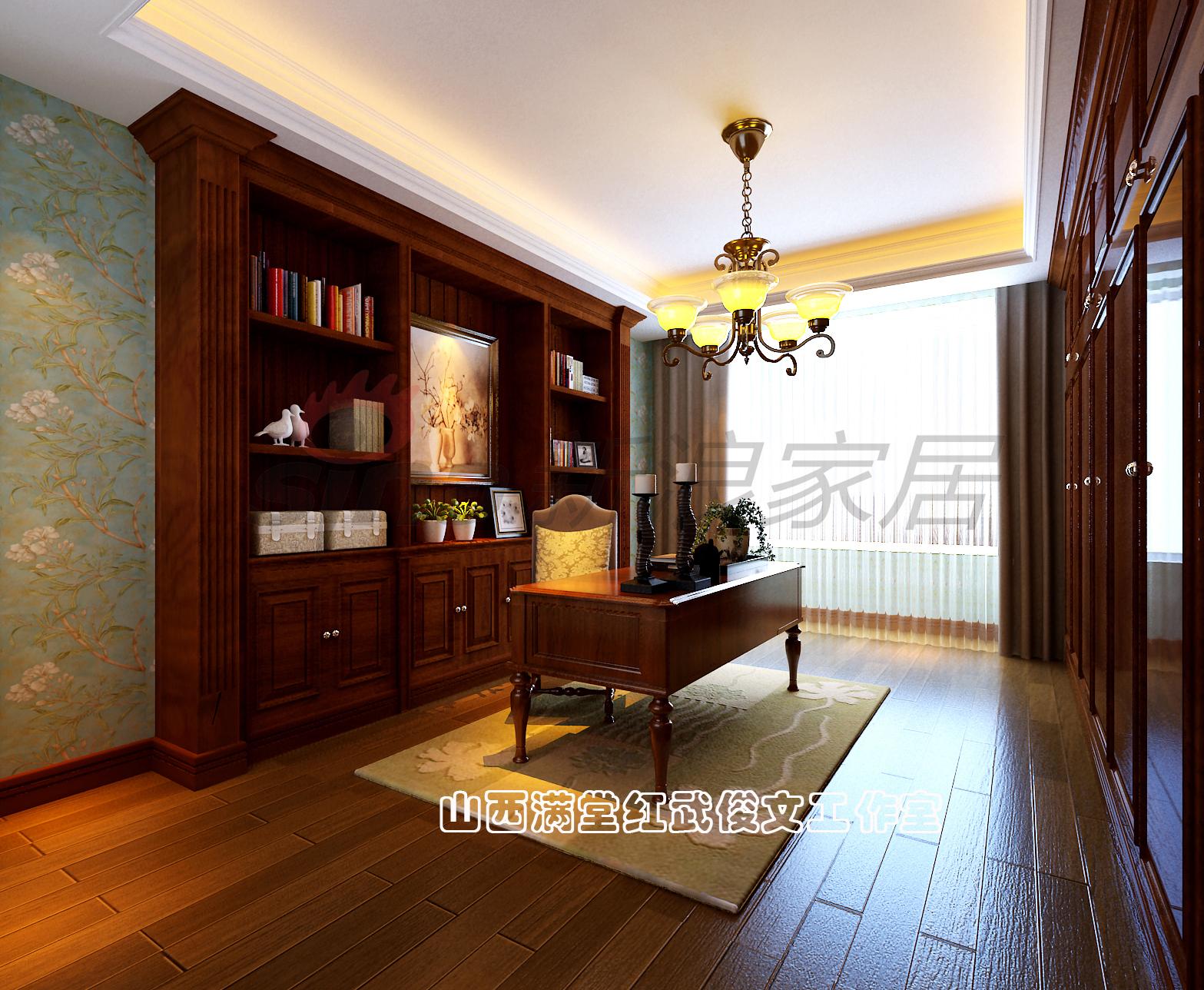 简约 欧式 书房图片来自满堂红设计师武俊文在长治别墅的分享