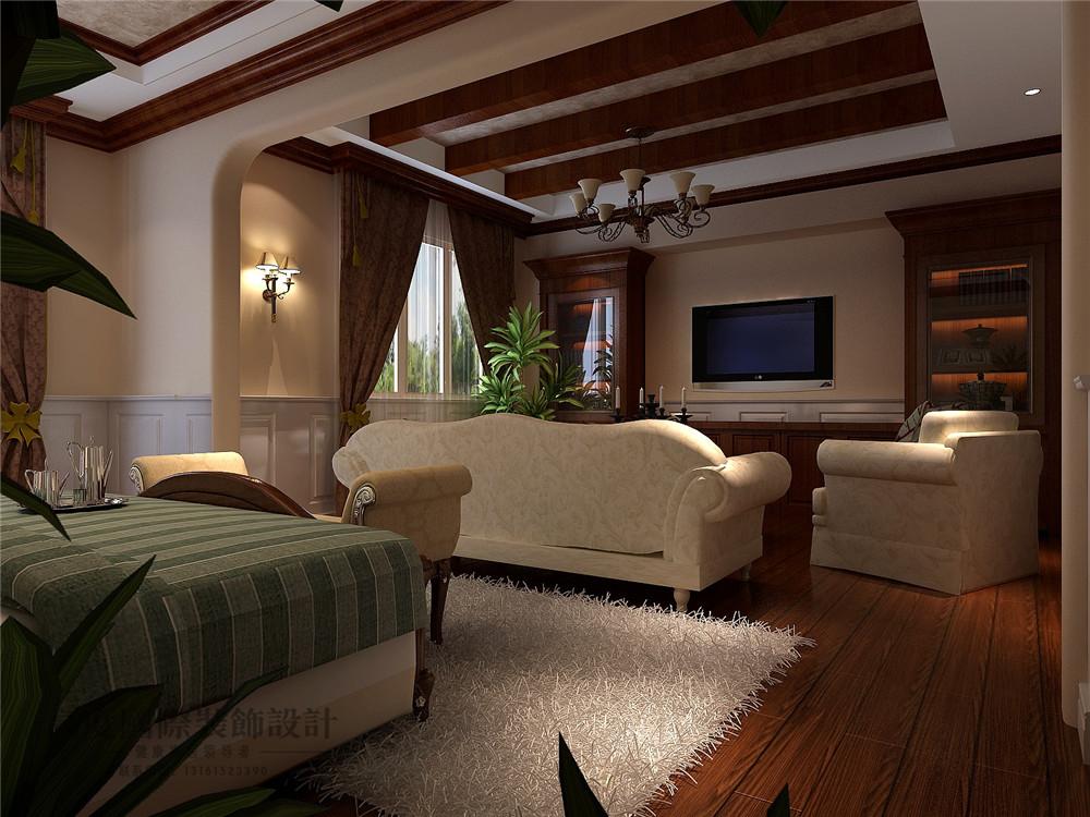 美式 新古典 别墅装修 新新家园 380平米 设计风格 装修样板间 卧室效果图 其他图片来自天天快乐的石头在新新家园美式新古典风格装修案例的分享
