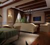整个起居室既可以作为日常起居之地,也可以作为休闲之地。