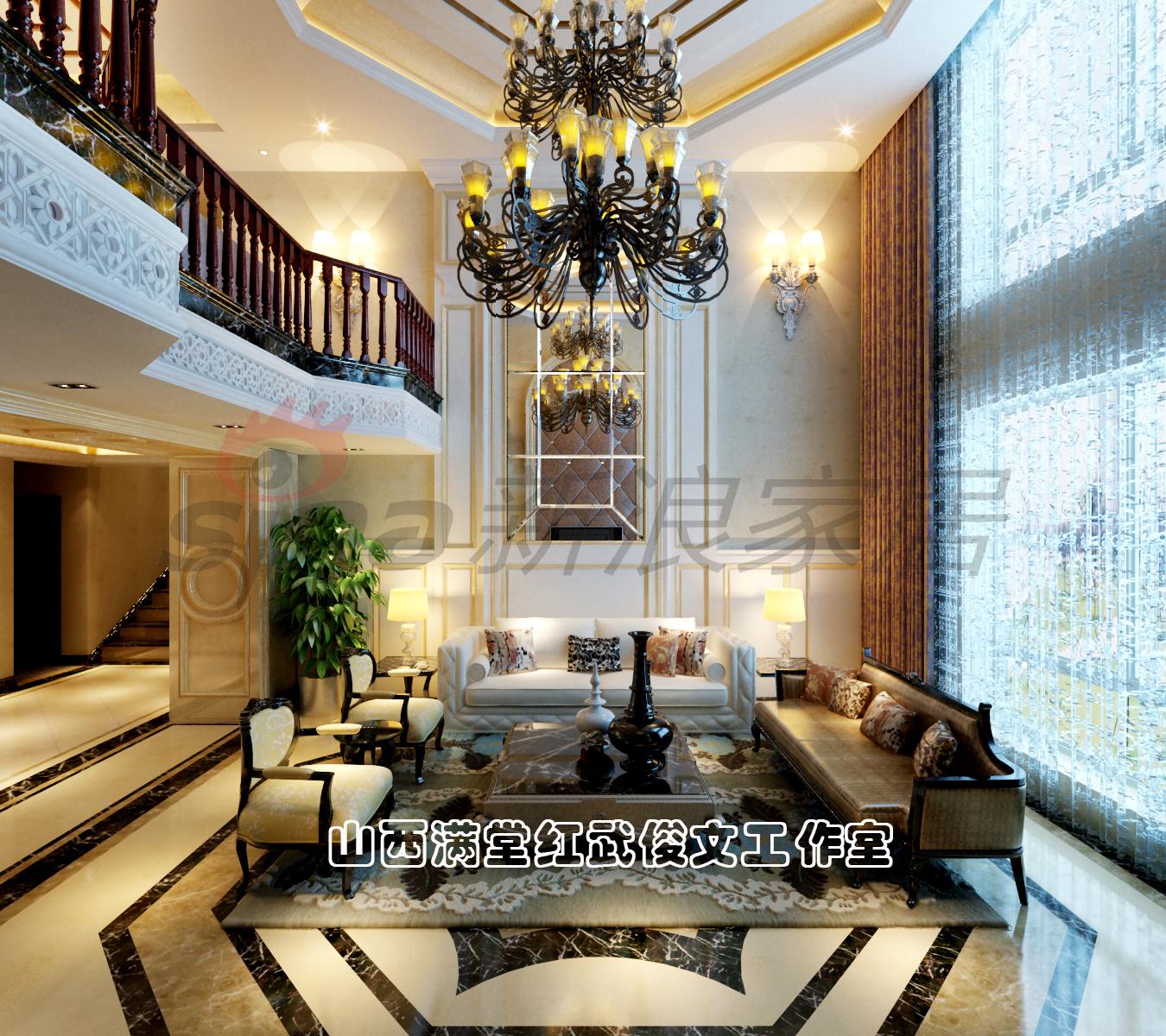 简约 欧式 客厅图片来自满堂红设计师武俊文在长治别墅的分享