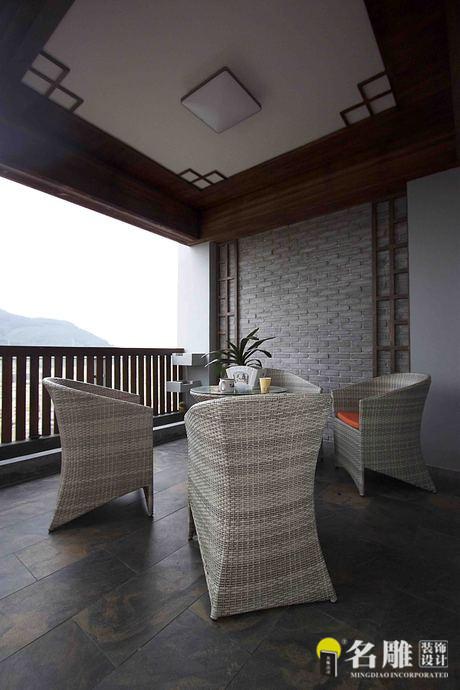 名雕装饰设计-桑泰丹华三期四居室-阳台
