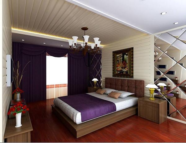 成都实创装饰—现代简约风格—卧室装修参考