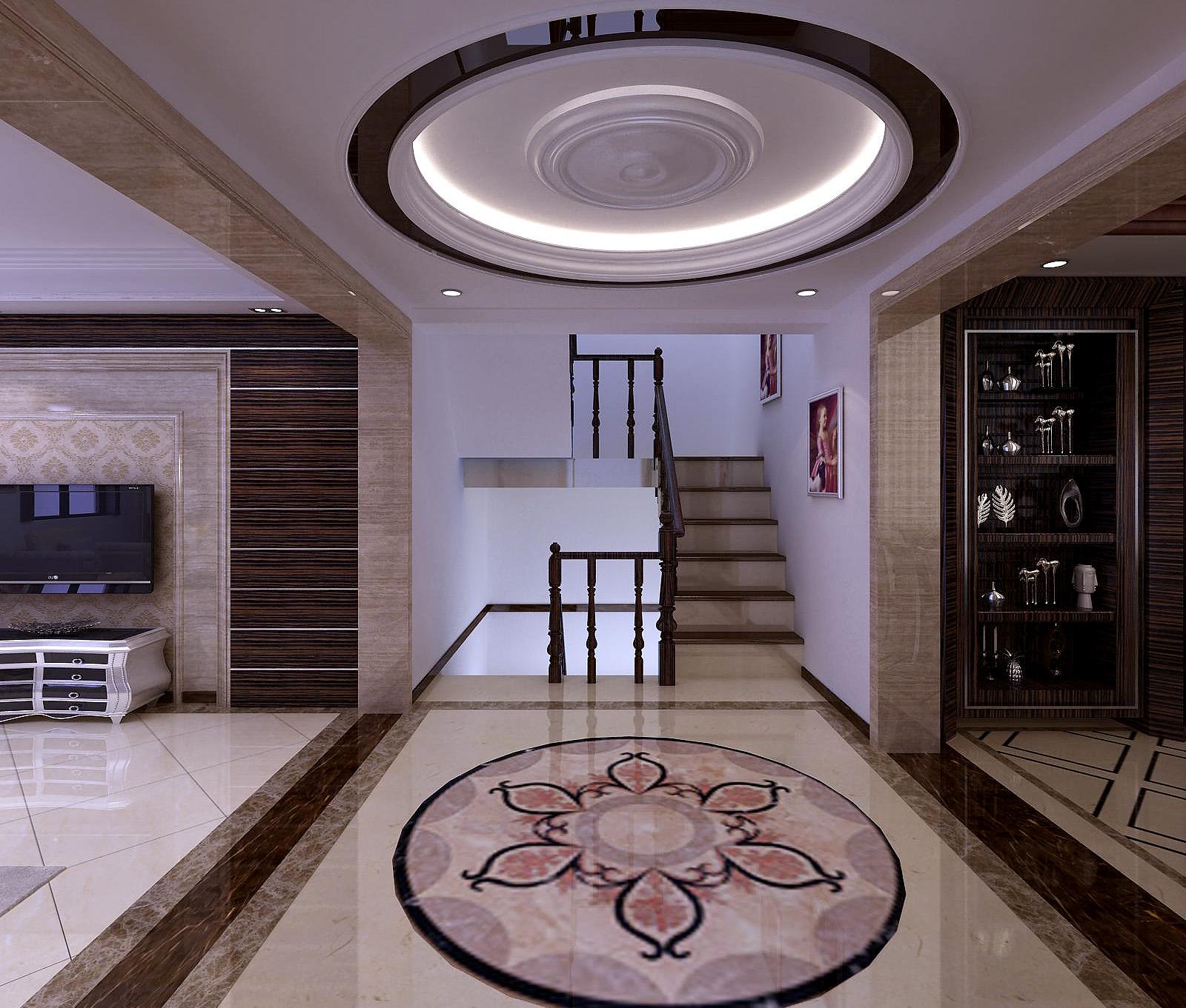 欧式 混搭 别墅 楼梯图片来自设计精英在别墅设计的分享