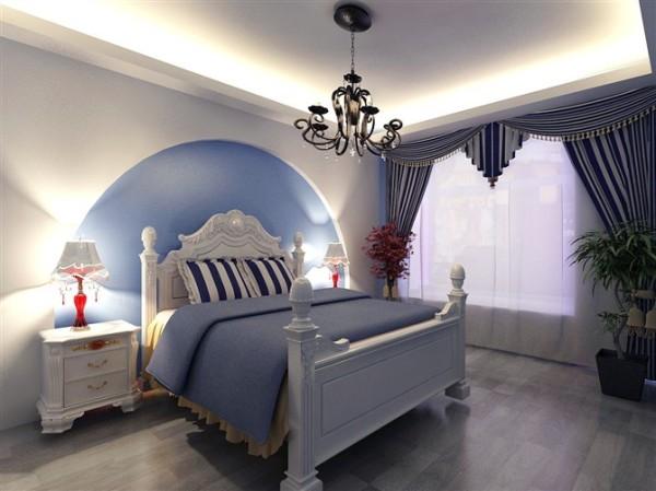【西安朗汇装饰】地中海风格卧室效果图赏析