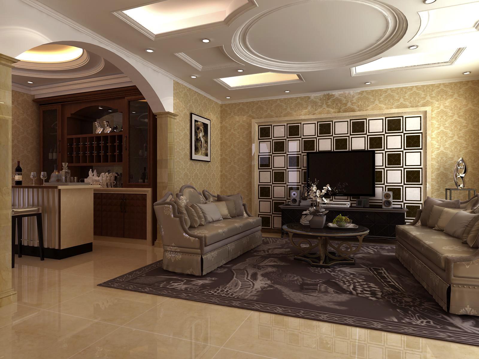 欧式 混搭 别墅 客厅图片来自设计精英在别墅设计的分享