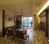 名雕装饰设计-桑泰丹华三期四居室-客厅电视区域