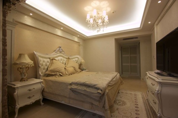 名雕装饰设计-半岛城邦二期-简欧卧室