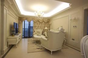 欧式 简欧 四居 高富帅 公主房 名雕装饰 半岛城邦 客厅图片来自名雕装饰设计在简欧风格-140平四居温馨雅致家居的分享