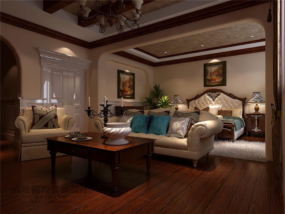 美式 新古典 别墅装修 新新家园 380平米 设计风格 装修样板间 卧室图片来自天天快乐的石头在新新家园美式新古典风格装修案例的分享
