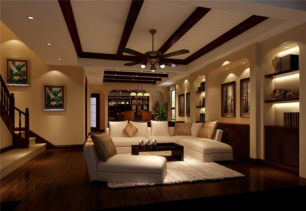 美式 新古典 别墅装修 新新家园 380平米 设计风格 装修样板间 地下室 起居室 其他图片来自天天快乐的石头在新新家园美式新古典风格装修案例的分享
