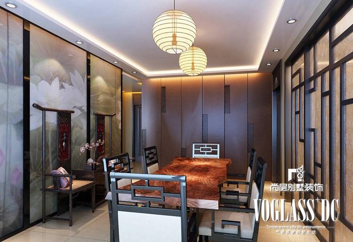 别墅 新中式 客厅 卧室 餐厅图片来自北京别墅装修案例在古典与现代的完美结合的分享