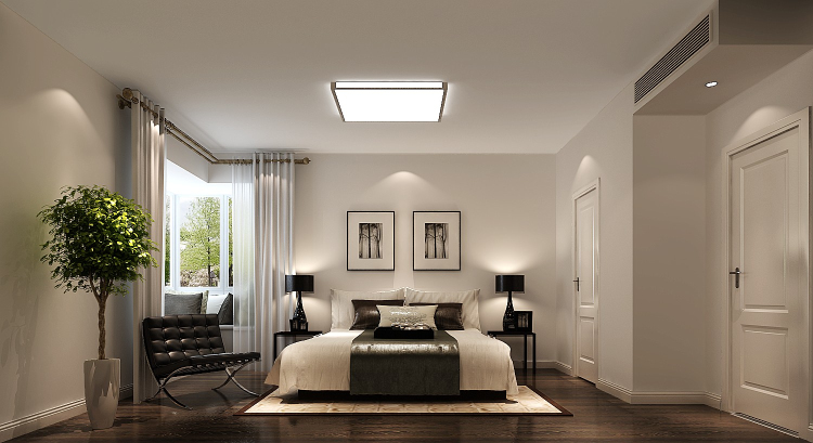 中信新城 现代 简约 三居 白领 80后 小资 平层 高度国际 卧室图片来自北京高度国际装饰设计在中信新城140平现代简约风格的分享