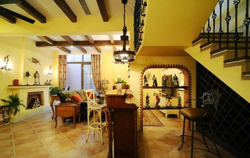 田园 别墅 成都装修 成都装饰 80后 厨房图片来自华西装饰集团在时光俊园165m²东南亚小跃层的分享