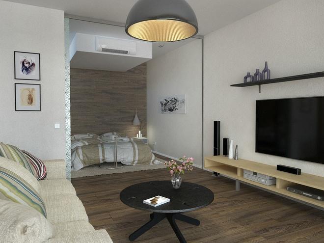 一居,北欧 收纳 小资 客厅图片来自陈小迦在布局更协调,空间更舒适的小户型的分享