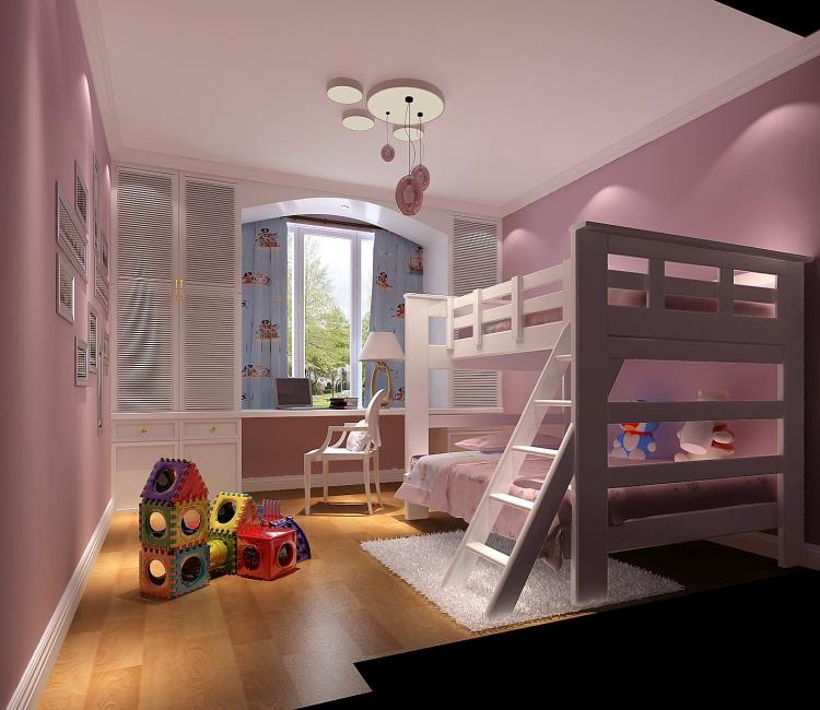 儿童房图片来自北京高度国际装饰设计在中景江山赋新中式公寓的分享