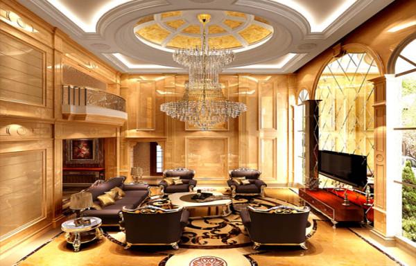 客厅作为待客区域,一般要求简洁明快,同时装修较其它空间要更明快光鲜,通常使用大量的石材和木饰面装饰;美国人喜欢有历史感的东西。