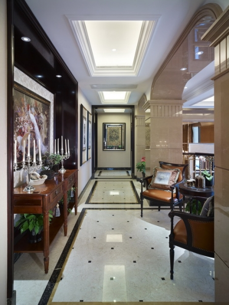 欧式 别墅 成都装修 成都装饰 跃层 客厅图片来自华西装饰集团在海昌天澜241m²欧式风格装饰的分享