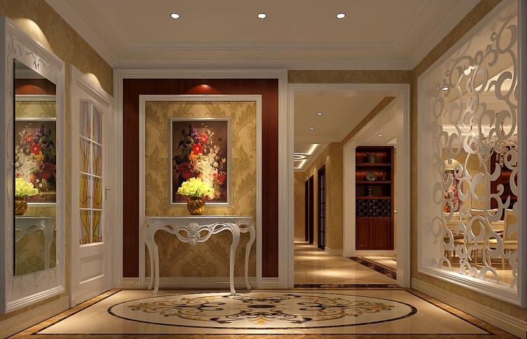 餐厅图片来自北京高度国际装饰设计在中铁花语城190平欧式公寓的分享
