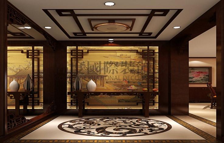 金色漫香苑 中式 140平米 三室一厅 高度国际 玄关图片来自高度国际装饰宋增会在中国传统 一品独特的分享