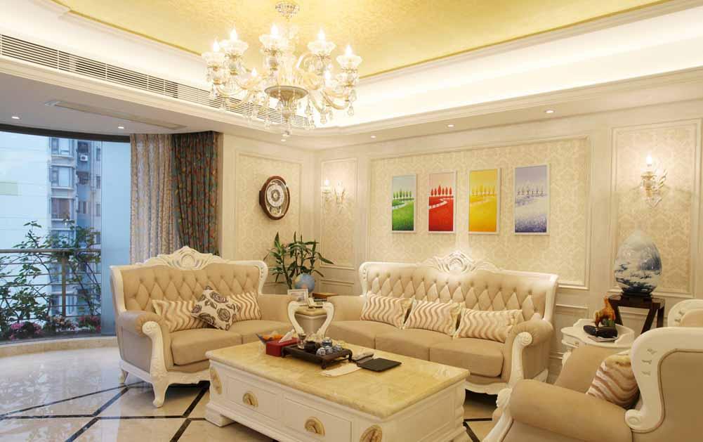 客厅图片来自成都生活家装饰徐洋在简欧风格装饰设计的分享