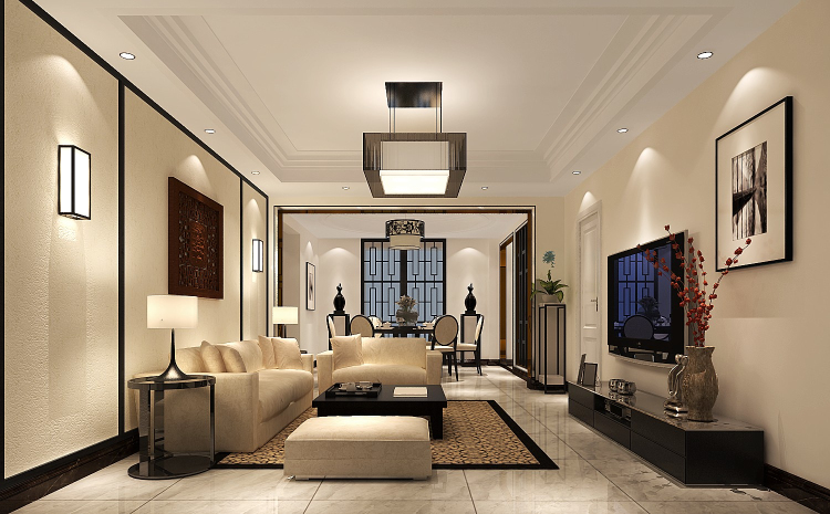 中信新城 现代 简约 三居 白领 80后 小资 平层 高度国际 客厅图片来自北京高度国际装饰设计在中信新城140平现代简约风格的分享