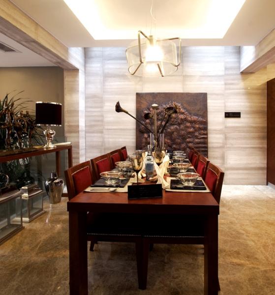 简约 别墅 四居 成都装修 成都装饰 餐厅图片来自华西装饰集团在花样年君山后现代风格案例鉴赏的分享
