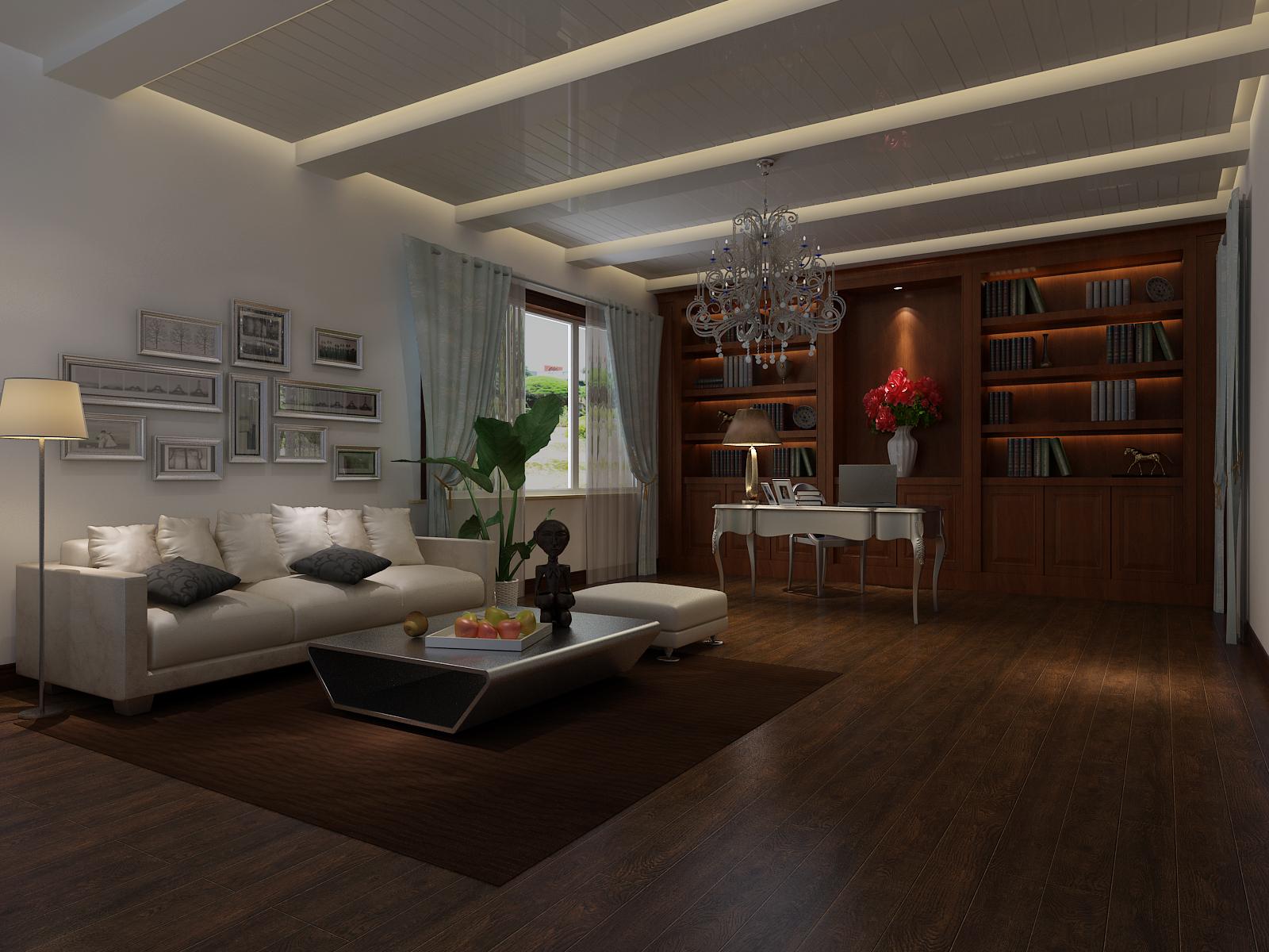 领秀新硅谷 高度国际 简约 欧式 别墅 白领 80后 小资 书房图片来自北京高度国际装饰设计在领秀新硅谷380平简欧独栋别墅的分享