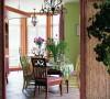 在厨房外面的小小餐桌,从这一个角度望过去,就是温暖的家的感觉,除此之外,别无其他。