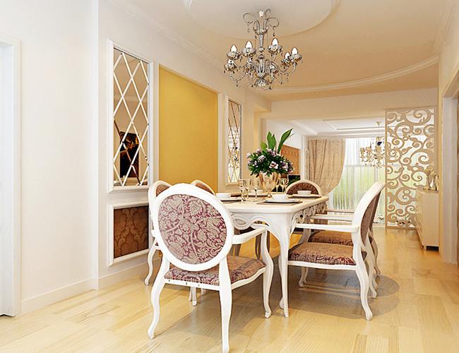 简约 欧式 三居 餐厅图片来自北京世家装饰工程有限公司在上和园著简欧的分享