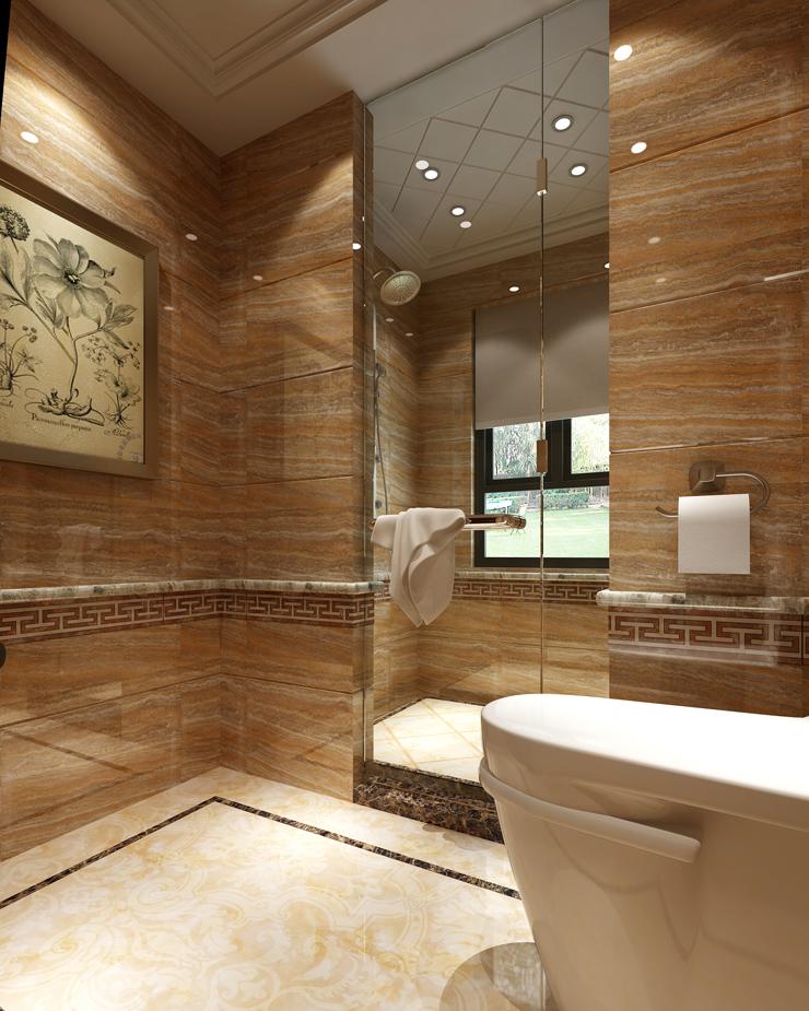 欧式 卫生间图片来自郑州东易日盛装饰在郑州绿城百合220的分享