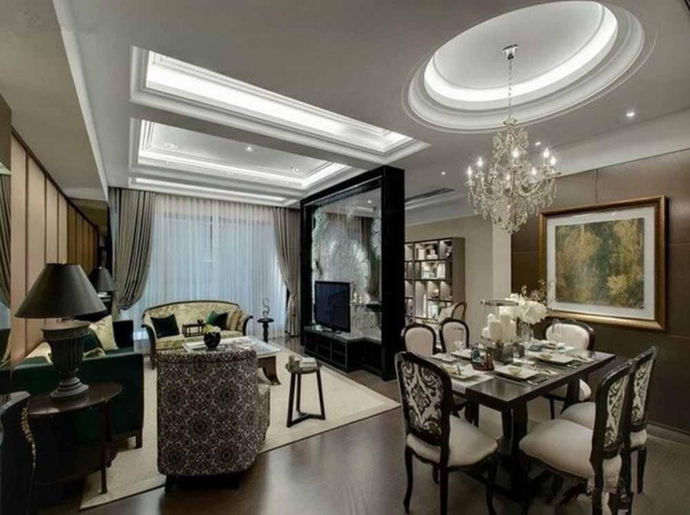 客厅图片来自成都生活家装饰徐洋在120平米欧式风格设计效果图的分享