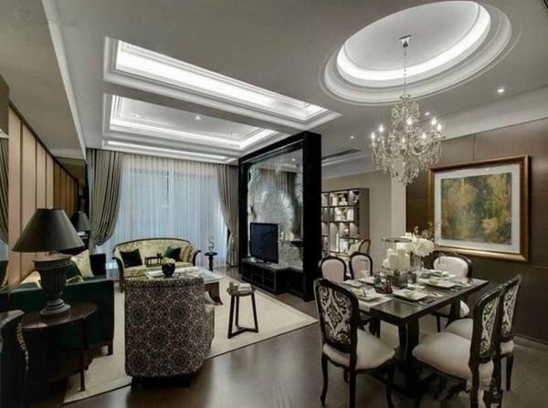 120平米欧式风格设计效果图  客厅