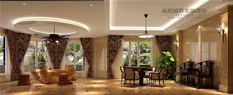 美式 美观 别墅漂亮 豪华档次 温馨舒适 客厅图片来自北京高度装饰设计王鹏程在500平米美式风格独栋别墅的分享