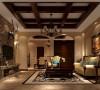 此户型采用休闲的托斯卡纳风格为主,此户型三口人居住,主要是作为第二居所。客厅的电视背景墙,做的壁炉造型,是休闲风格的主要元素。
