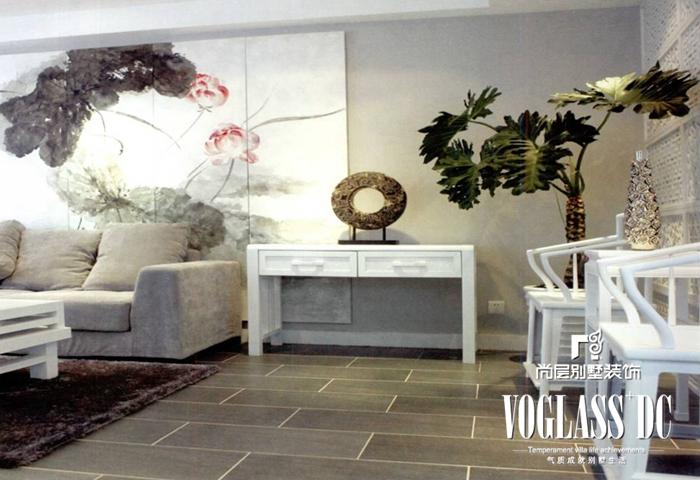 别墅 新中式 客厅 卧室 玄关图片来自北京别墅装修案例在古典与现代的完美结合的分享