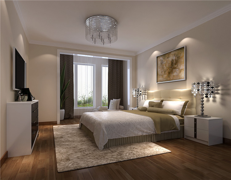 中海香克林 简约 欧式 公寓 白领 三居 80后 小资 高度国际 卧室图片来自北京高度国际装饰设计在中海香克林浪漫简欧公寓的分享