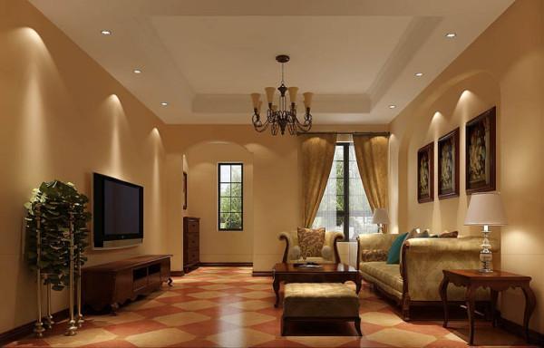 客厅作为待客区域,一般要求简洁明快,同时装修较其它空间要更明快光鲜,通常使用大量的石材和木饰面装饰美国人喜欢有历史感的东西。